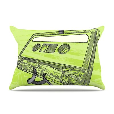 Mixtape by Sam Posnick Featherweight Pillow Sham Size: King, Fabric: Woven Polyester