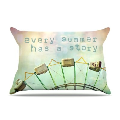 Every Summer Has a Story by Sylvia Cook Featherweight Pillow Sham Size: King, Fabric: Woven Polyester