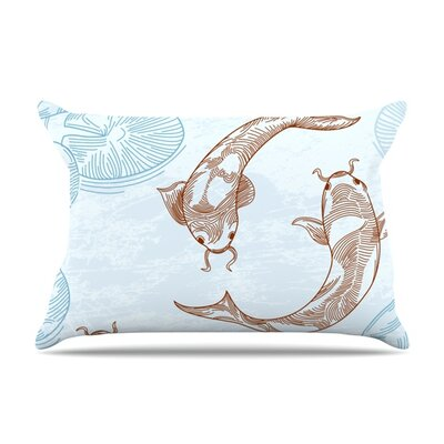 Koi by Sam Posnick Featherweight Pillow Sham Size: Queen, Fabric: Woven Polyester