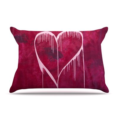 Miss You by Steve Dix Featherweight Pillow Sham Size: King, Fabric: Woven Polyester