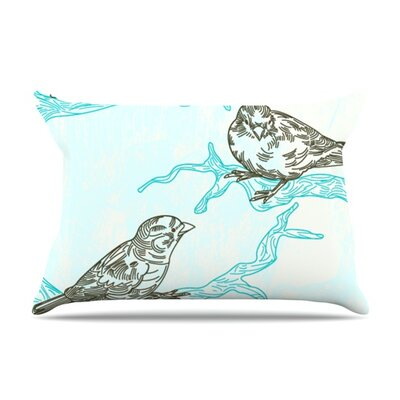 Birds in Trees by Sam Posnick Featherweight Pillow Sham Size: Queen, Fabric: Woven Polyester