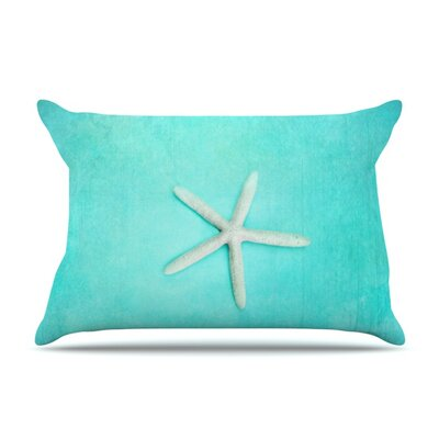 Sylvia Cook Starfish Featherweight Sham Size: Queen, Fabric: Woven Polyester