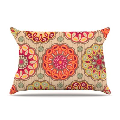Festival Folklore by Suzie Tremel Featherweight Pillow Sham Size: Queen, Fabric: Woven Polyester