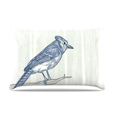 Sam Posnick Blue Jay Featherweight Sham Size: Queen, Fabric: Woven Polyester