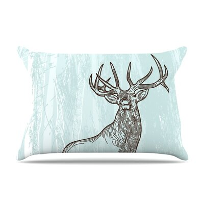 Elk Scene by Sam Posnick Featherweight Pillow Sham Size: Queen, Fabric: Woven Polyester