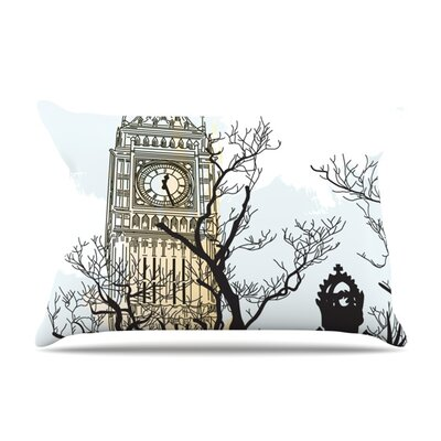 Big Ben by Sam Posnick Featherweight Pillow Sham Size: King, Fabric: Woven Polyester