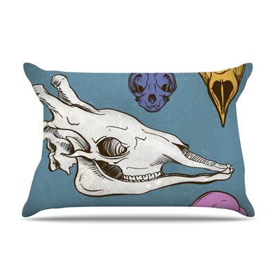 Skulls by Sophy Tuttle Featherweight Pillow Sham Size: King, Fabric: Woven Polyester