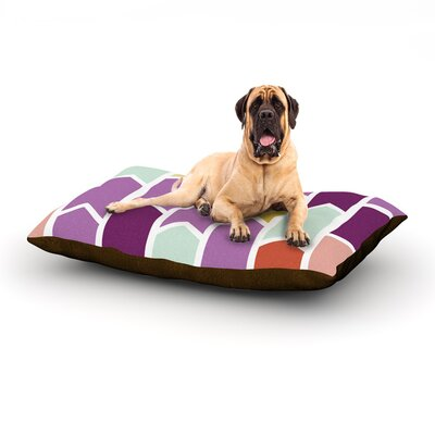 Orchid Geometric Chevron Dog Bed Size: 40 L x 30 W