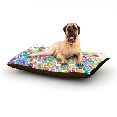 Inner Circle White Dog Bed Size: 40 L x 30 W