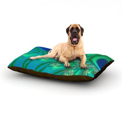 Fractal Turquoise Dog Bed Size: 60 L x 50 W