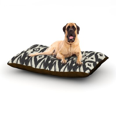 Black Cream Tribal Ikat Dog Bed Size: 60 L x 50 W