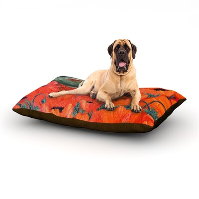 Poppies Dog Bed Size: 60 L x 50 W