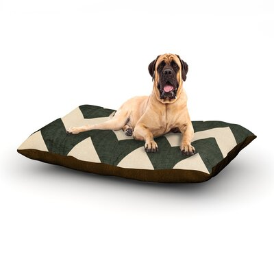 Vintage Vinyl Dog Bed Size: 28 L x 18 W