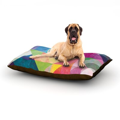 Color Blocking Dog Bed Size: 40 L x 30 W