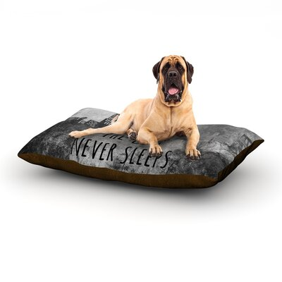 The City Never Sleeps Dog Bed Size: 28 L x 18 W