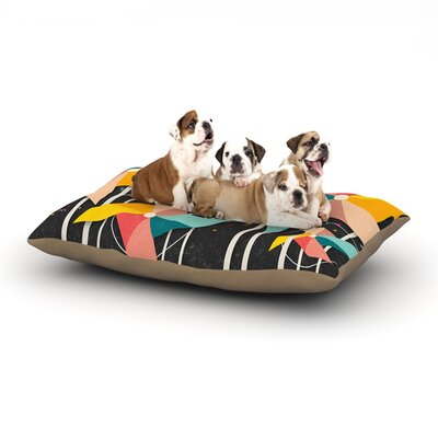 Colorful Pinwheels Dog Bed Size: 28 L x 18 W