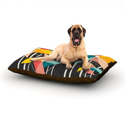 Colorful Pinwheels Dog Bed Size: 60 L x 50 W