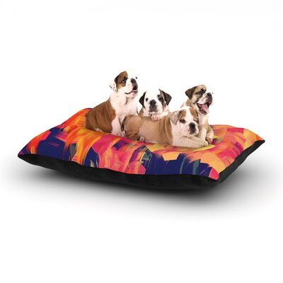 Geo Flower Dog Bed Size: 40 L x 30 W
