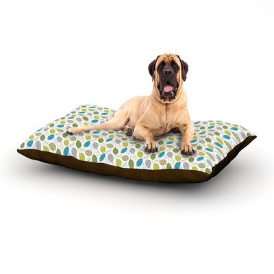 Tangled Teal Dog Bed Size: 60 L x 50 W