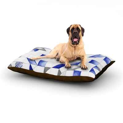 Winter Geometry Dog Bed Size: 40 L x 30 W