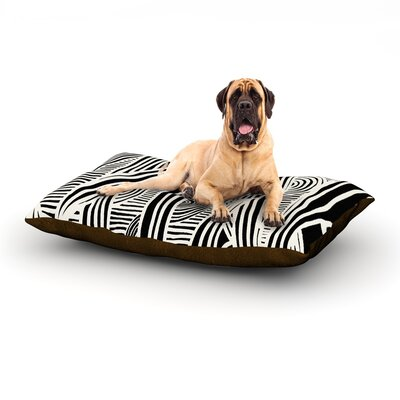 Graphique Black Dog Bed Size: 40 L x 30 W