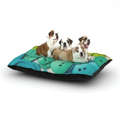Cute as a Button Dog Bed Size: 40 L x 30 W