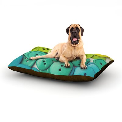 Cute as a Button Dog Bed Size: 60 L x 50 W