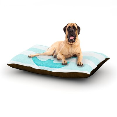 Stone Vintage Aqua Anchor Dog Bed Size: 60 L x 50 W