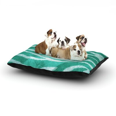 Blue Zebra Print Texture Dog Bed Size: 28 L x 18 W