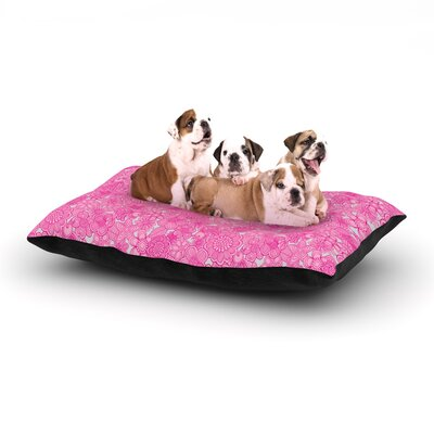 Welcome Birds To My Pink Garden Dog Bed Size: 40 L x 30 W