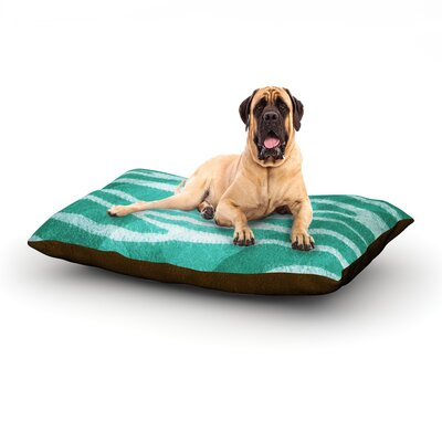 Blue Zebra Print Texture Dog Bed Size: 60 L x 50 W