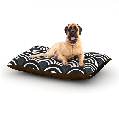 Art Deco Black Dog Bed Size: 40 L x 30 W