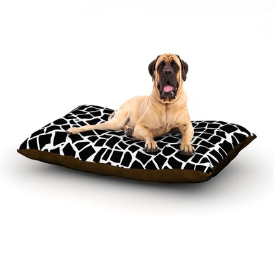 British Mosaic Black Dog Bed Size: 40 L x 30 W