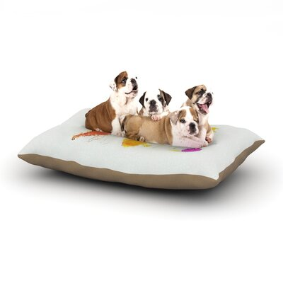 World Map Dog Bed Size: 28 L x 18 W