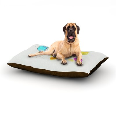 World Map Dog Bed Size: 60 L x 50 W