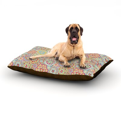 My Happy Flowers in Red Dog Bed Size: 60 L x 50 W
