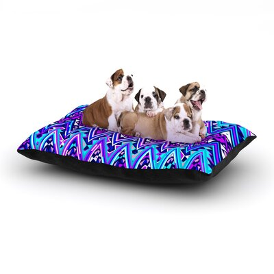 Blue Electric Chevron Dog Bed Size: 40 L x 30 W