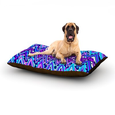 Blue Electric Chevron Dog Bed Size: 60 L x 50 W