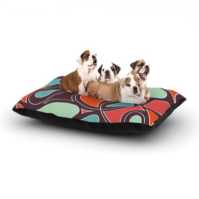 Retro Swirl Dog Bed Size: 28 L x 18 W
