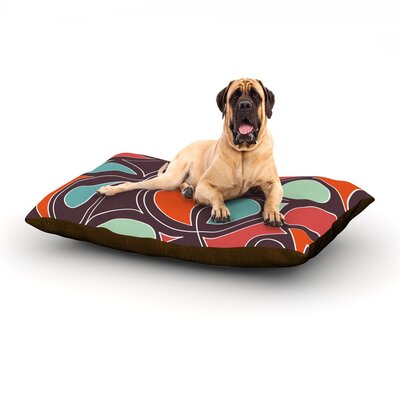Retro Swirl Dog Bed Size: 60 L x 50 W
