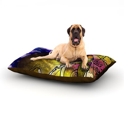Fairy Tale off to Neverland Dog Bed Size: 60 L x 50 W