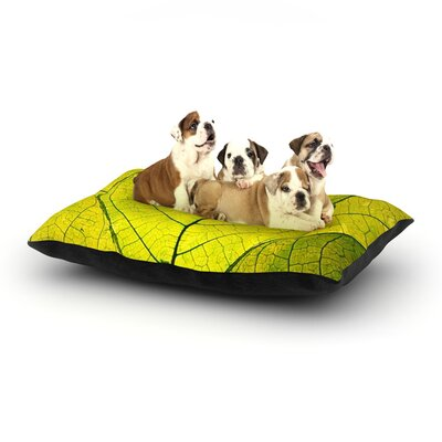 Every Leaf a Flower Dog Bed Size: 40 L x 30 W