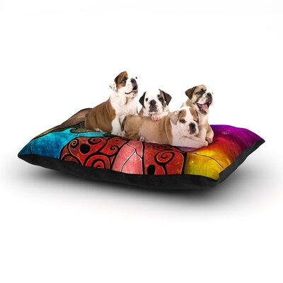 Fairy Tale Mermaid Dog Bed Size: 28 L x 18 W