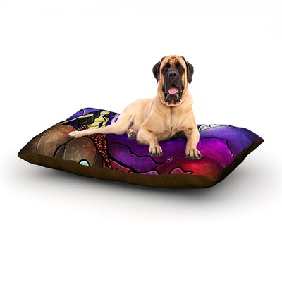 Fairy Tale Mermaid Dog Bed Size: 60 L x 50 W