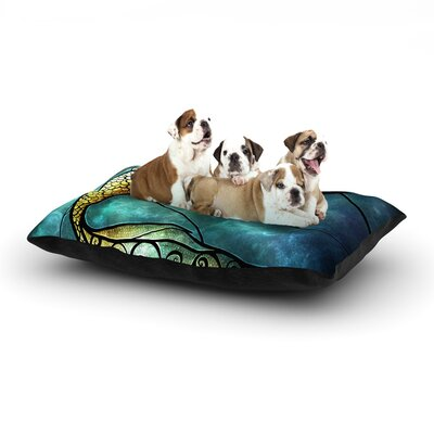 Mermaid Dog Bed Size: 28 L x 18 W