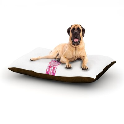 Rainbow Giraffe Dog Bed Size: 60 L x 50 W