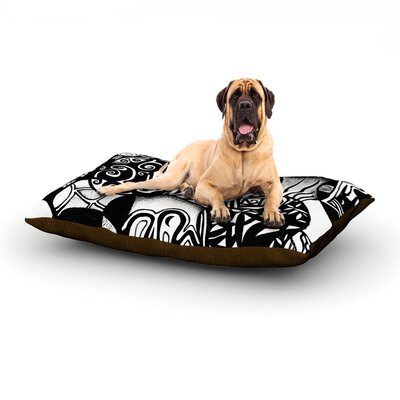 Circles and Life Dog Bed Size: 40 L x 30 W