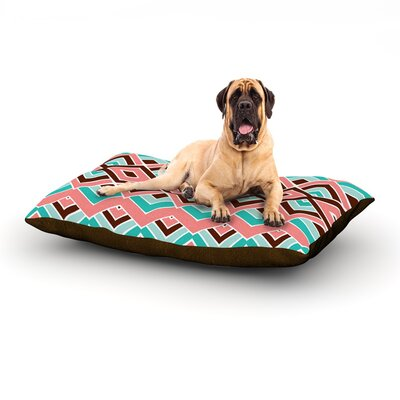Eclectic Dog Bed Size: 28 L x 18 W