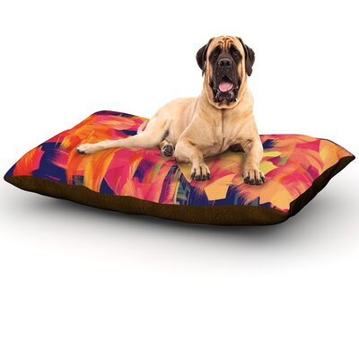 Geo Flower Dog Bed Size: 60 L x 50 W