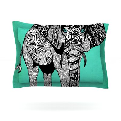 Pom Graphic Design Elephant of Namibia Color Featherweight Sham Size: Queen, Fabric: Cotton